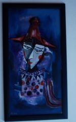 abstraktes Clownbild